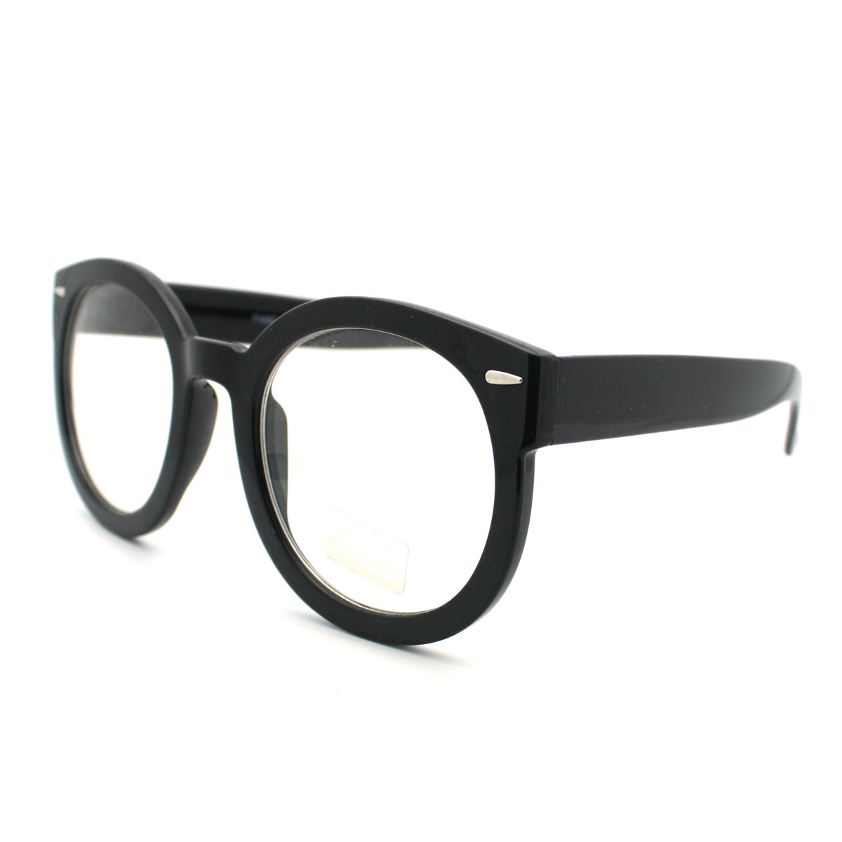 Thick Black Frame Prescription Glasses : Black Oversized Round Thick Horn Rim Clear Lens Fashion ...