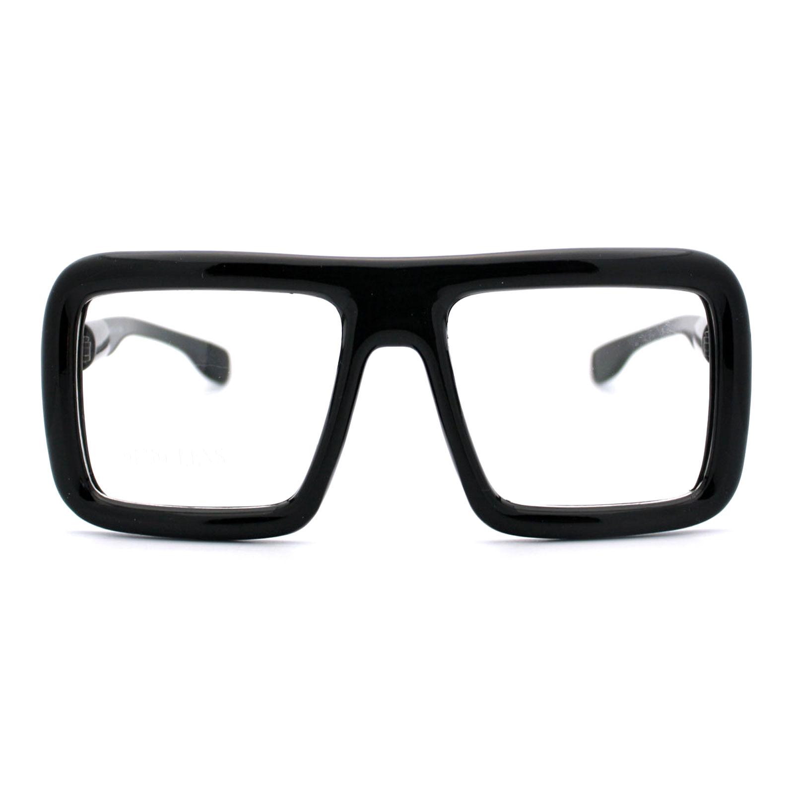 Runway Heavy Plastic Frame Rectangular Geeky Optical Eye Glasses   eBay