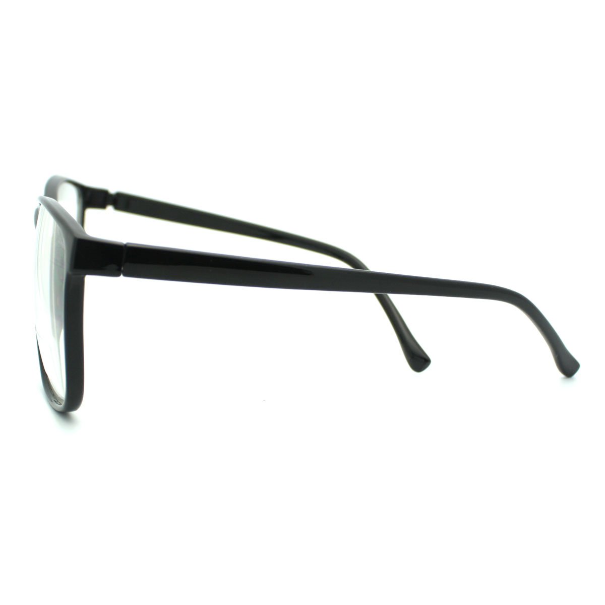 Large Thin Frame Glasses Matte Black : Black Large nerdy Geek Old School Clear Lens Thin Horn Rim ...