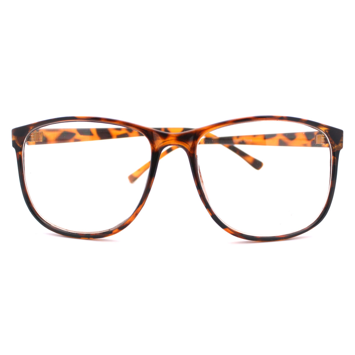 Big Glasses With Thin Frames : Tortoise Brown Large Nerdy Clear Lens Thin Horn Rim Geek ...