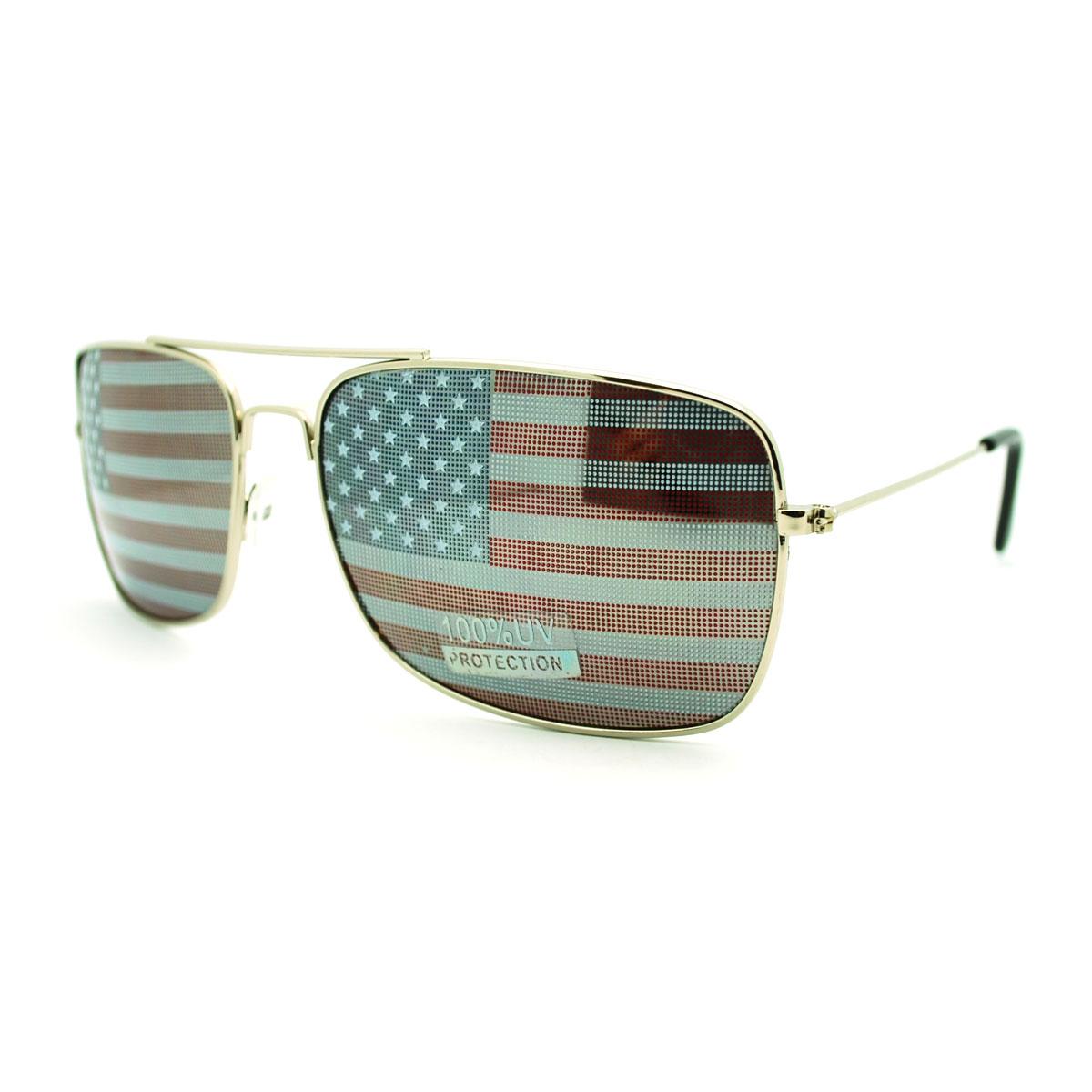 american aviator sunglasses  american flag inprint