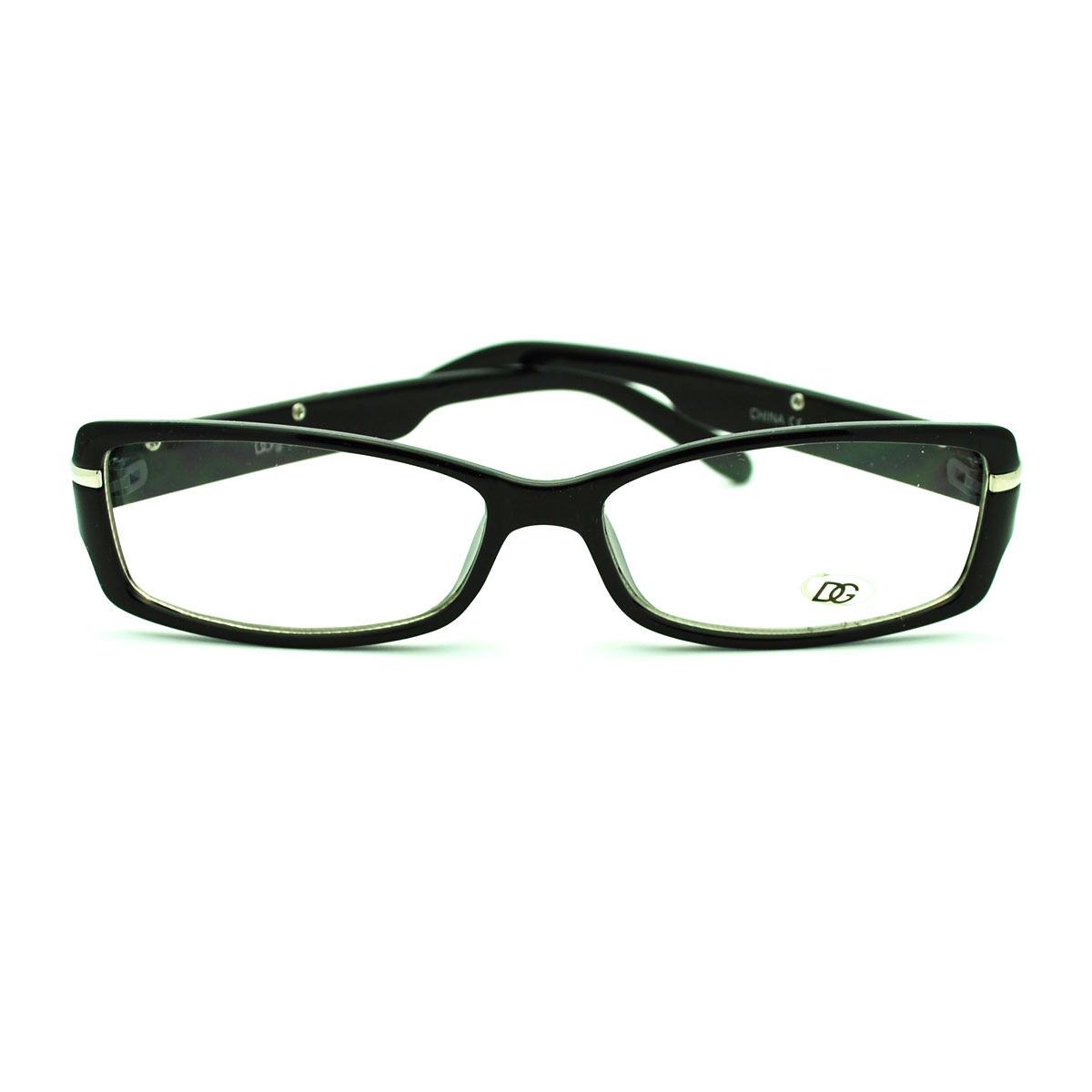 Glasses Frames Too Narrow : DG Eyewear School Girl Narrow Lens Rectangular Fashion Eye ...