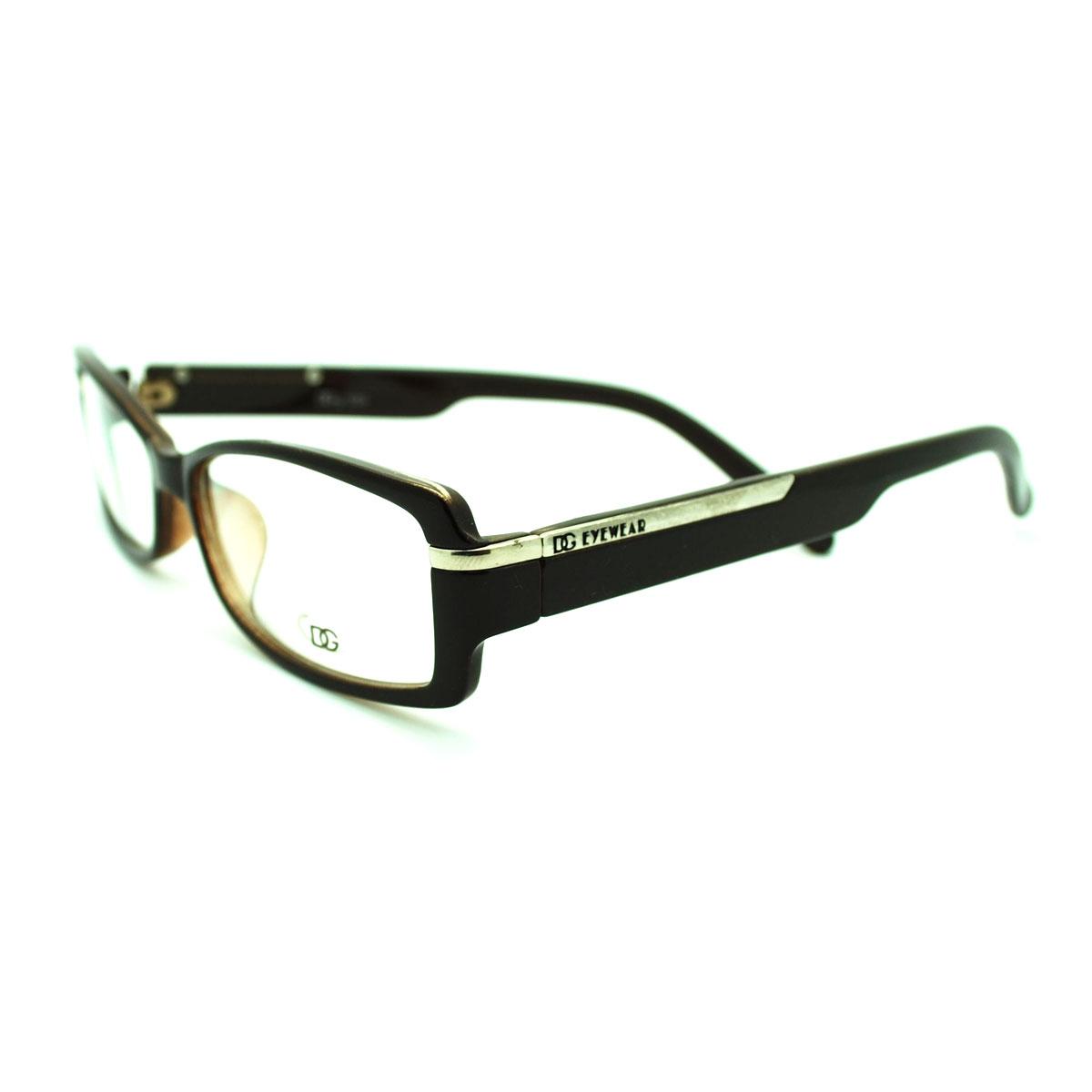 Glasses Narrow Frame : DG Eyewear School Girl Narrow Lens Rectangular Fashion Eye ...
