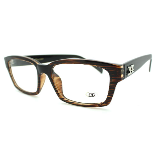 Glasses Narrow Frame : New 2-Tone Brown Hardcore Narrow Clear Lens Glasses ...