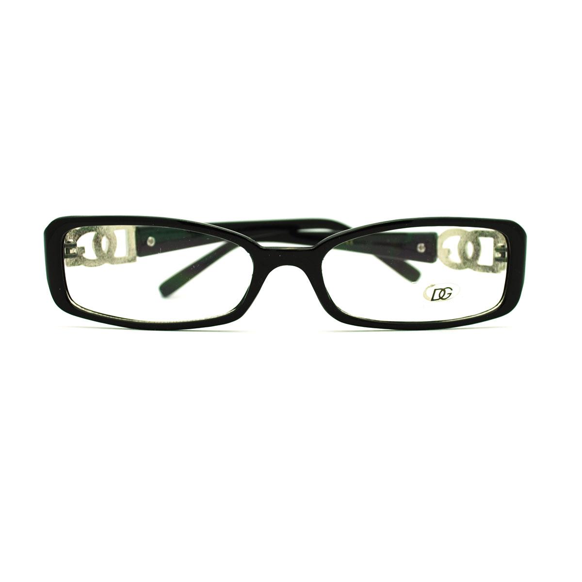 Ladies Eyeglass Frames : Womens Sexy Extra Narrow Rectangular Plastic Frame Eye ...