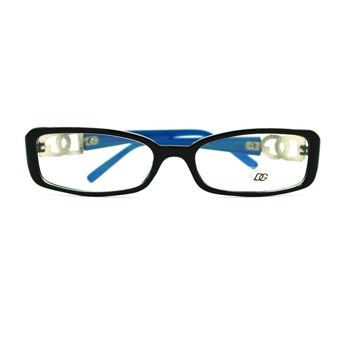 Womens Sexy Extra Narrow Rectangular Plastic Frame Eye ...