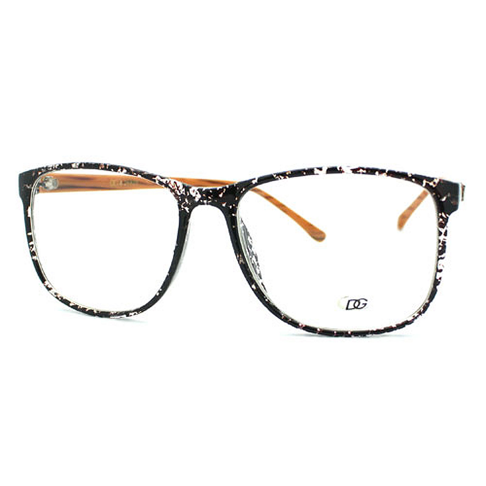 Glasses Frames Black On Top Clear On Bottom : New Nerd Fashion Eye Glasses with Clear Lens 2-Tone Black ...