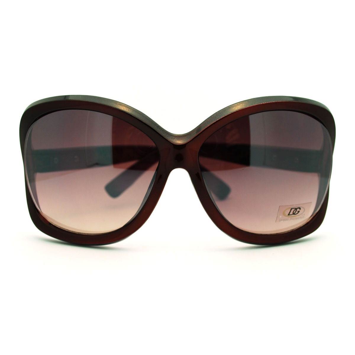 Womens Exposed Lens Thick Plastic Frame Butterfly Fashion ...