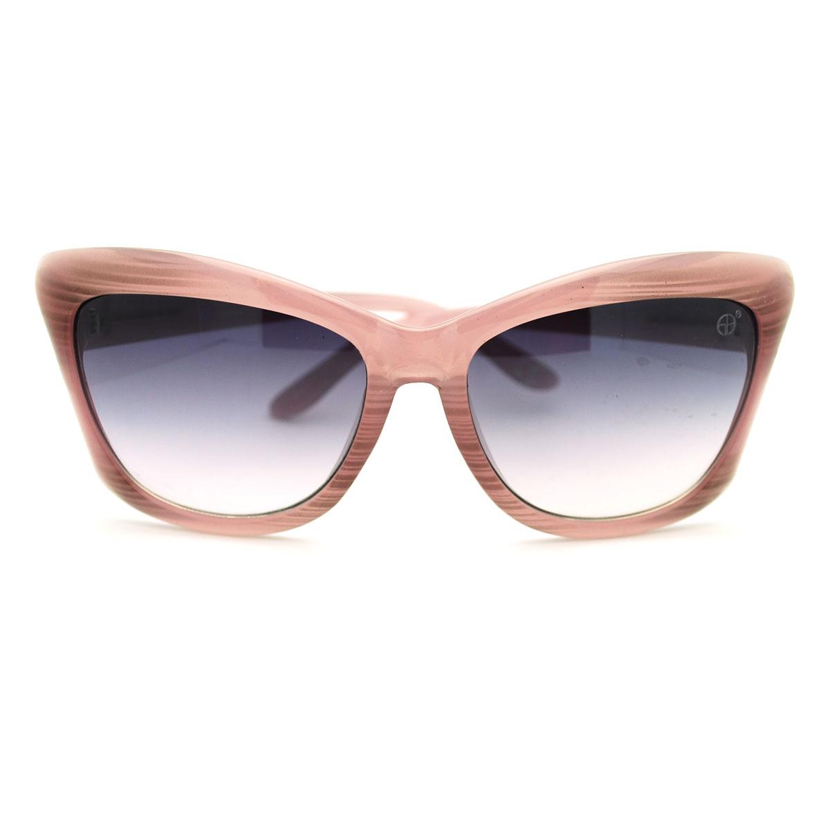 Womens Super Thick Plastic Frame Cat Eye Oversized Sunglasses