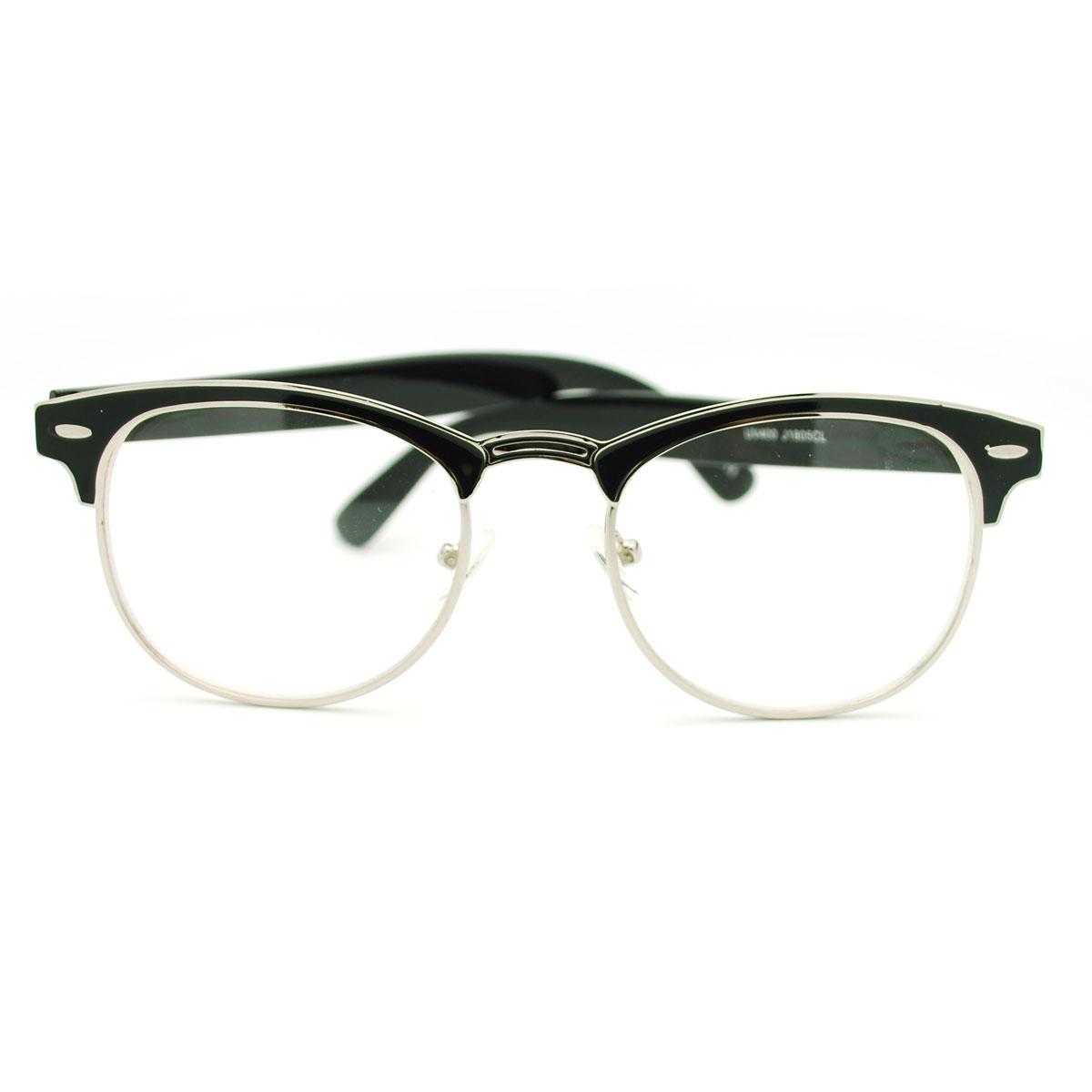 Eyeglass Frame Half Rim : Colorful Metal Half Rim Eye Glasses Frame Celebrity Style ...