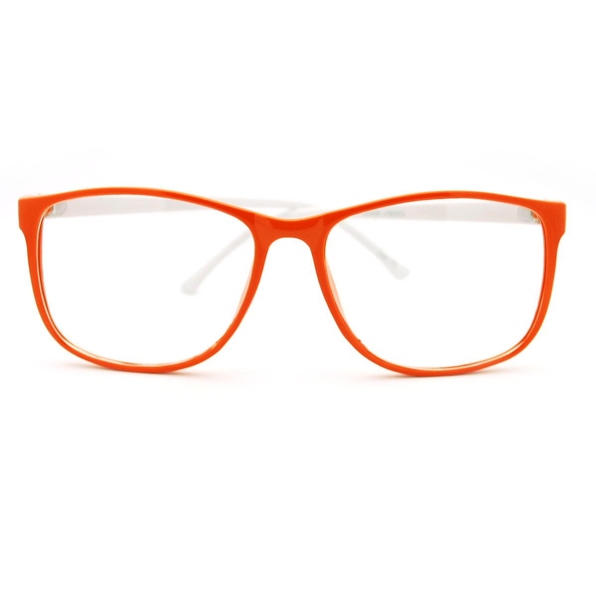 Big Plastic Frame Glasses : Retro Style nerdy Thin Plastic Frame Large Rectangular ...