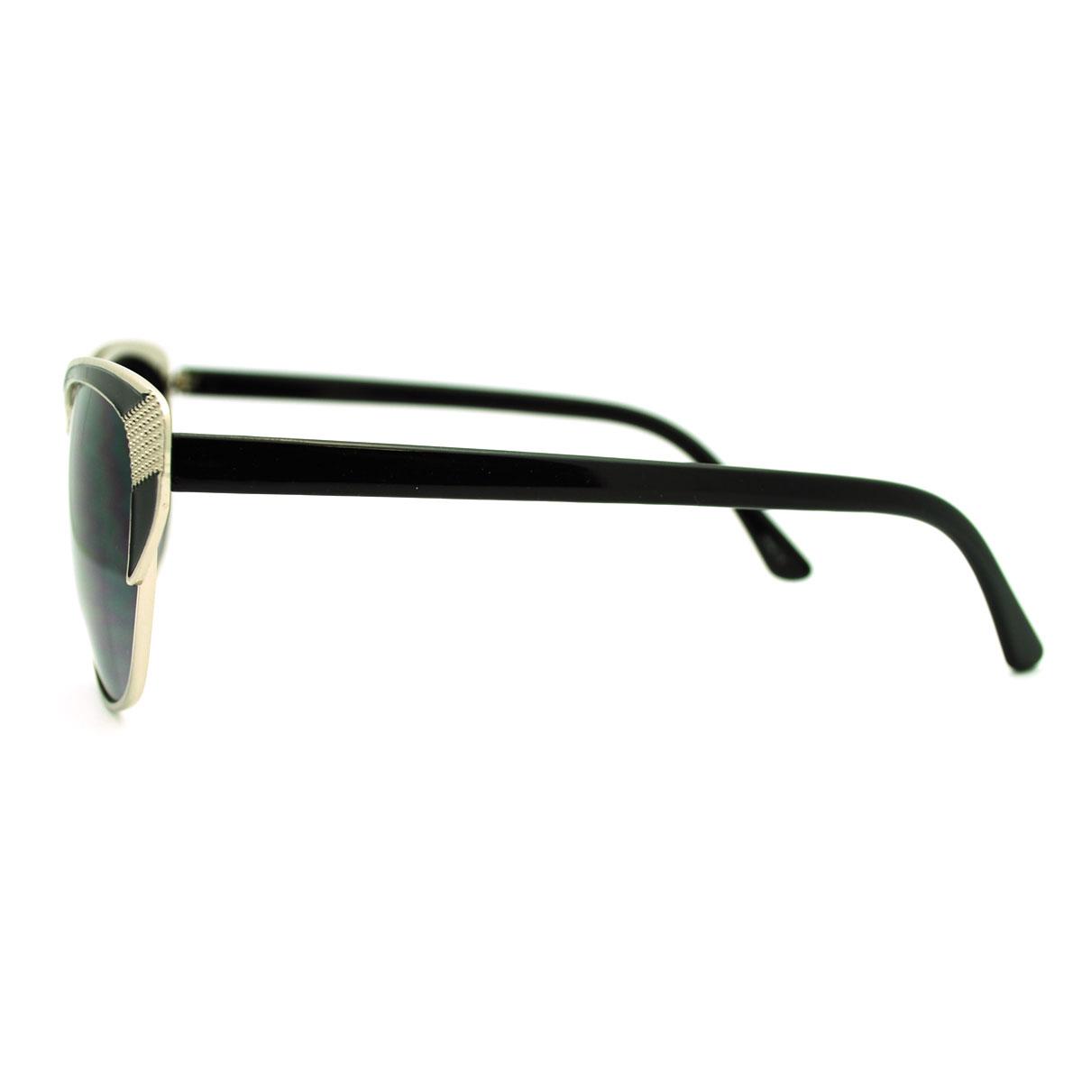 White Half Frame Glasses : Retro Metal Frame Cat Eye Half Rim Sunglasses - White eBay