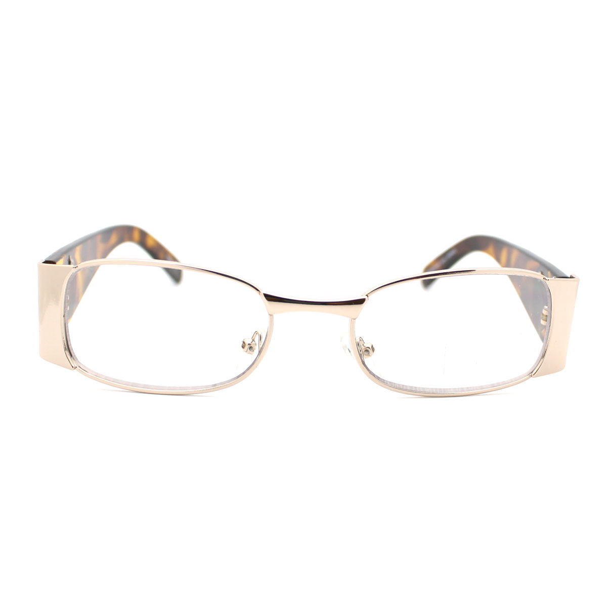 Glasses Without Frame On Bottom : Womens Clear Oval Lens Eye Glasses Frame Tort Temple w ...