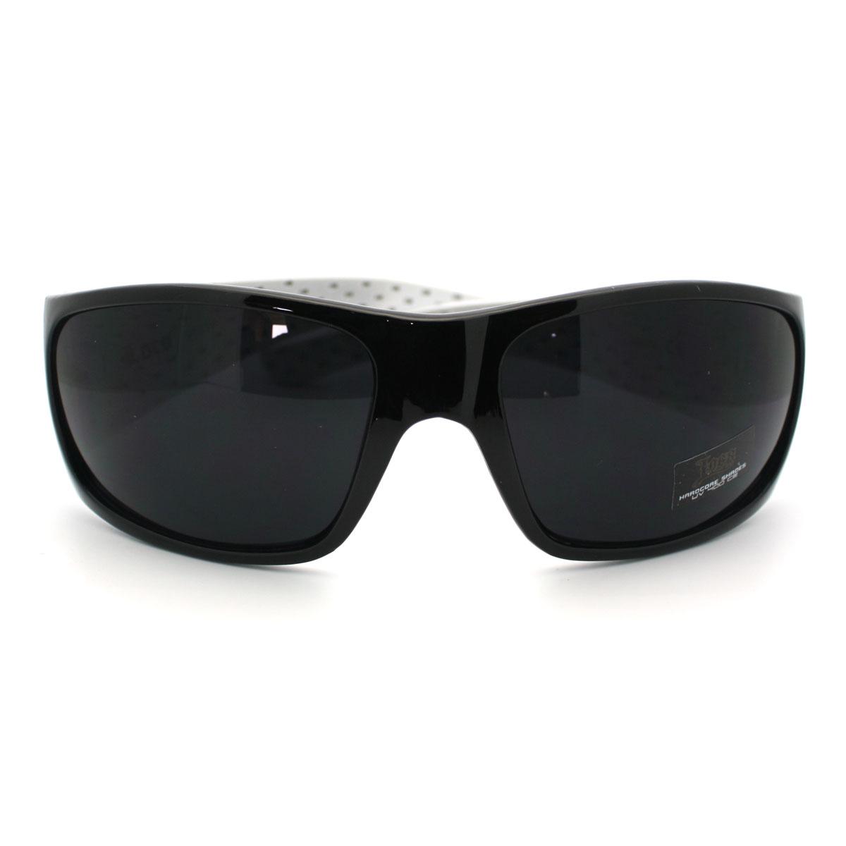 Mens Gangster Style Locs Sunglasses Oversized Dark Black ...