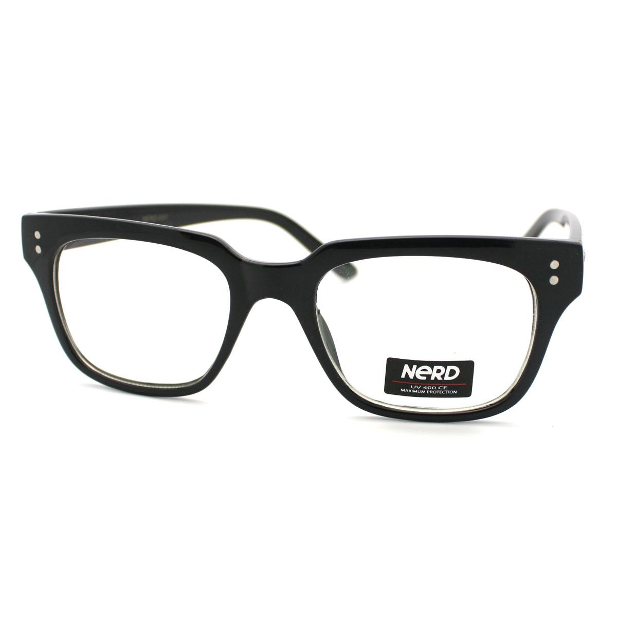 Glasses Frames Black On Top Clear On Bottom : Clear Lens Horned Rim Retro Eye Glasses Frame with Metal ...