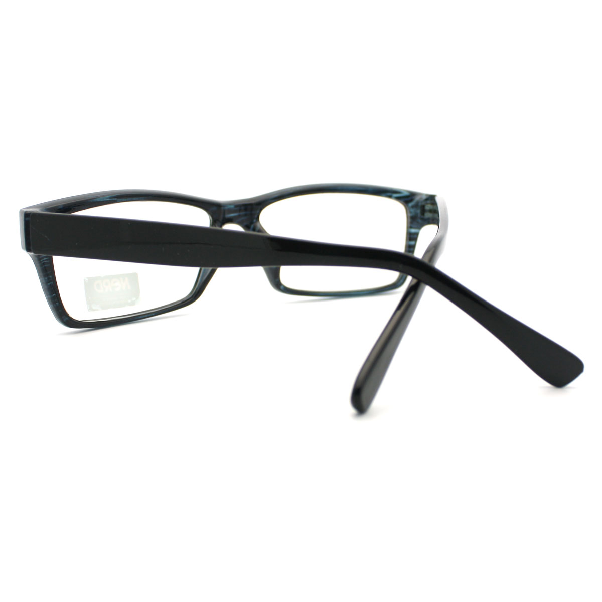 Glasses Frames Too Narrow : Unisex New Geeky Nerd Narrow Rectangular Clear Lens ...