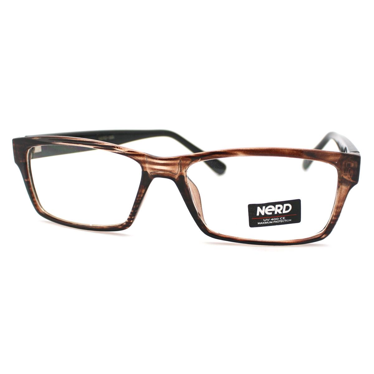 Narrow Frame Reading Glasses : Unisex New Geeky Nerd Narrow Rectangular Clear Lens ...