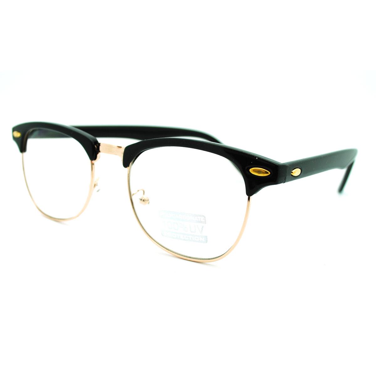 Half Frame Horn Rimmed Glasses : Eyeglass Frame Club Half Horn Rimmed Glasses Unisex New ...