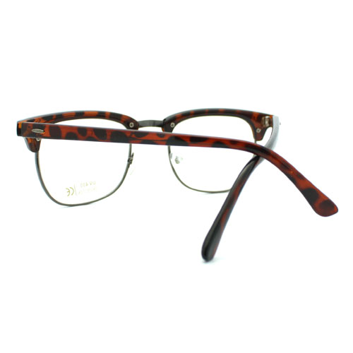 Eyeglass Frame Club Half Horn Rimmed Glasses Unisex New ...