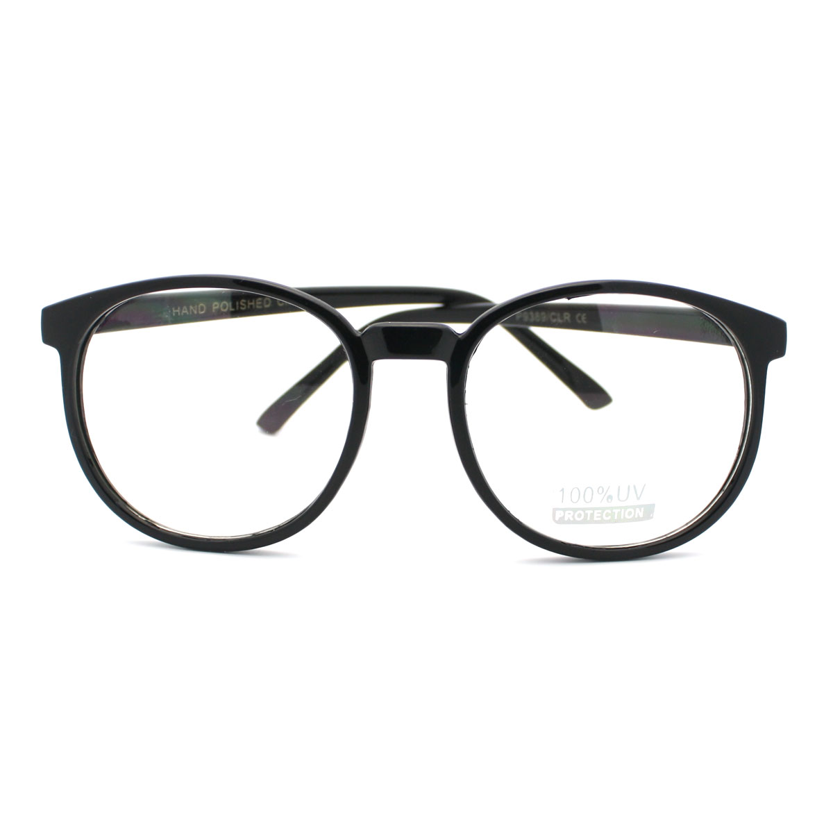 Best Plastic Frame Glasses : Geeky Thin Plastic Frame Large Round Clear Lens Eye ...