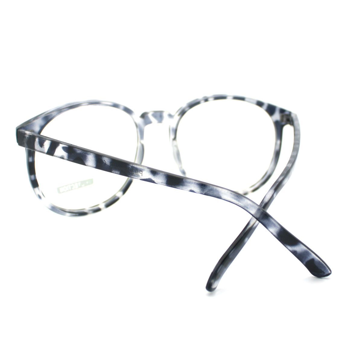 Big Plastic Frame Glasses : Geeky Thin Plastic Frame Large Round Clear Lens Eye ...