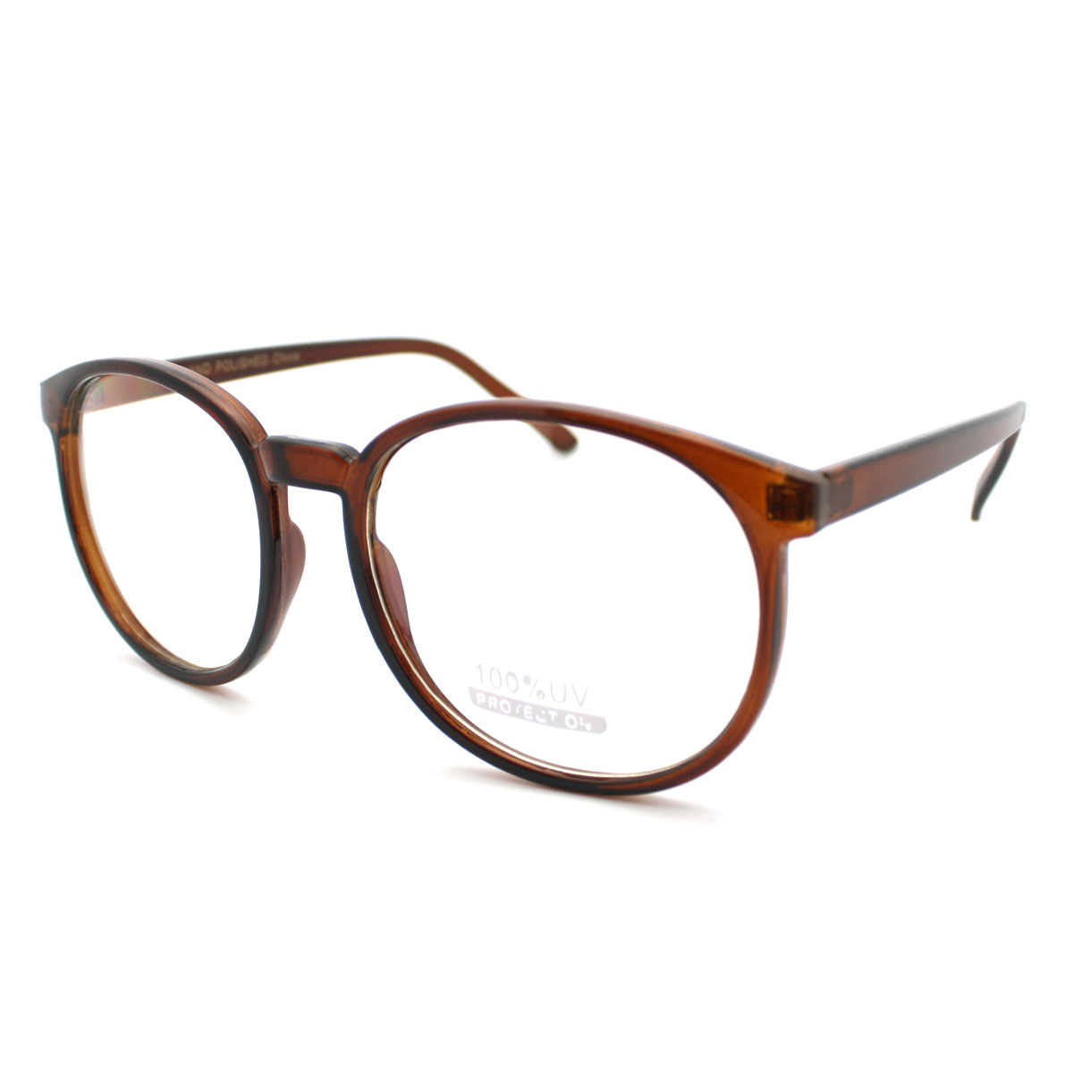 Large Thin Frame Glasses : Geeky Thin Plastic Frame Large Round Clear Lens Eye ...