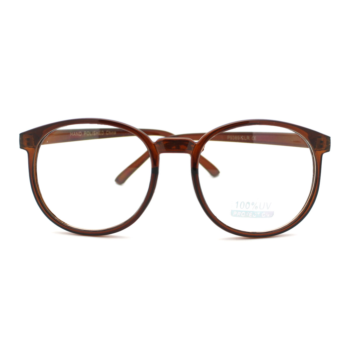 Big Glasses With Thin Frames : Geeky Thin Plastic Frame Large Round Clear Lens Eye ...