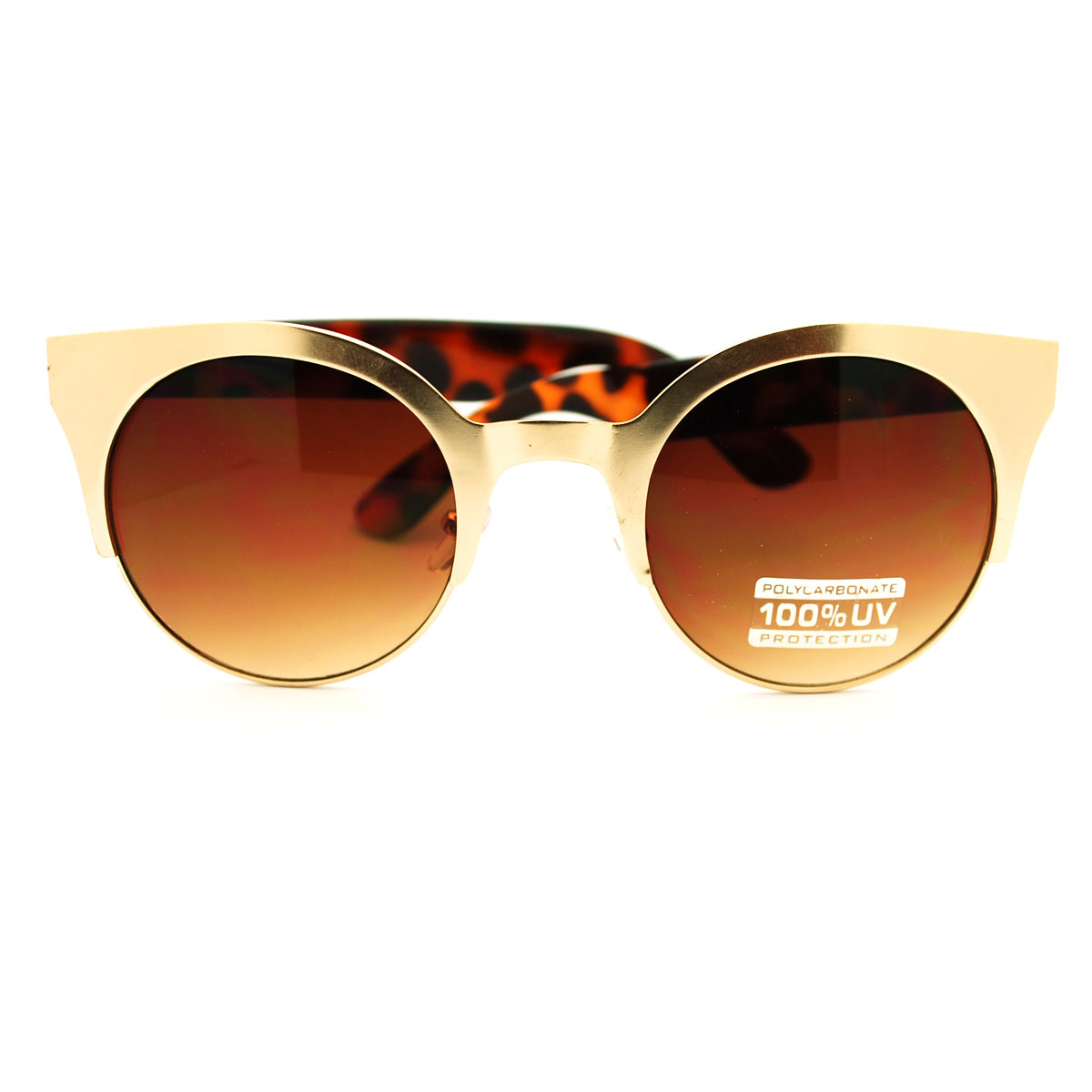 Circle Lens Sunglasses  women 039 s euro fashion round circle lens half rim sunglasses ebay