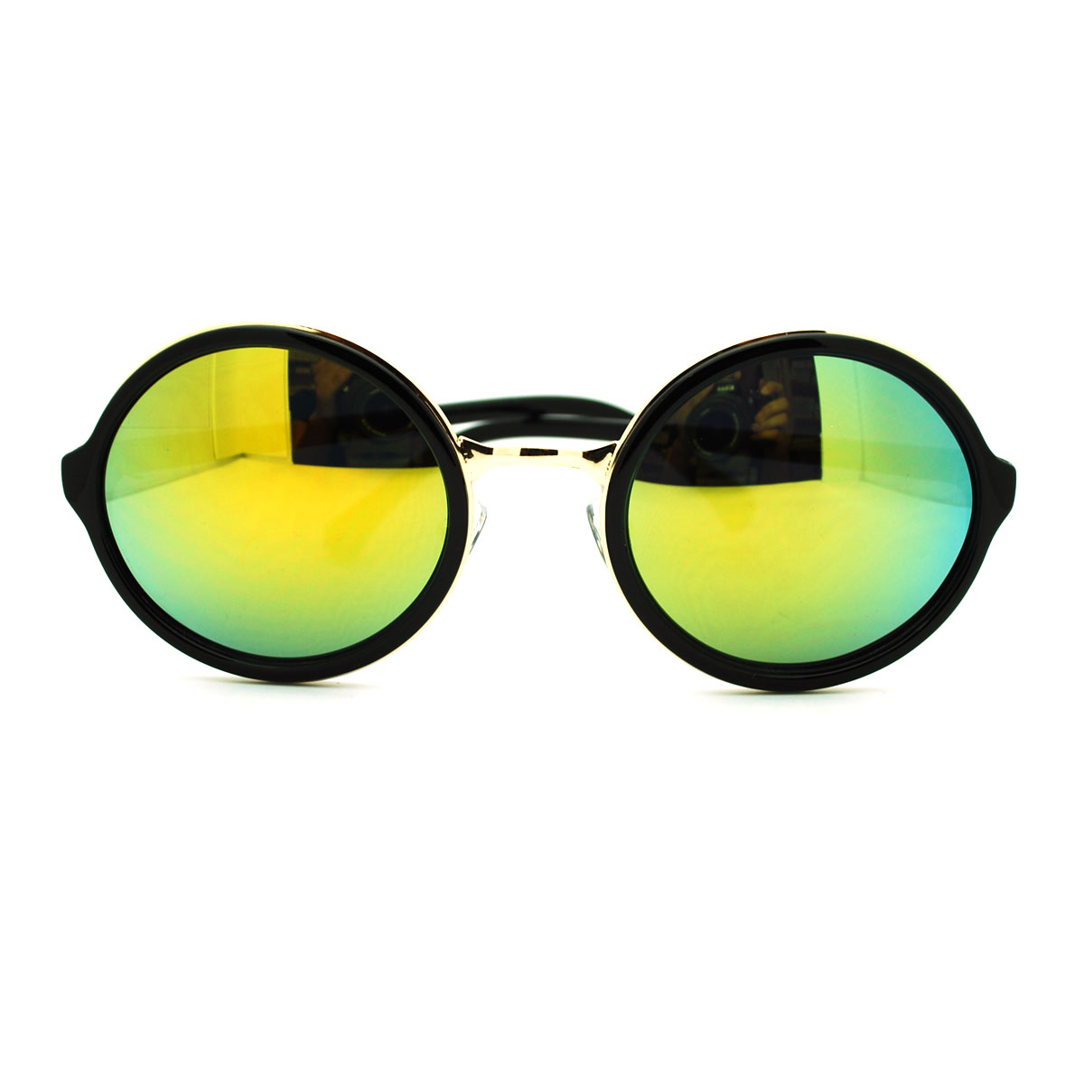 Circle Lens Sunglasses  celebrity gentleman color mirror circle lens round sunglasses