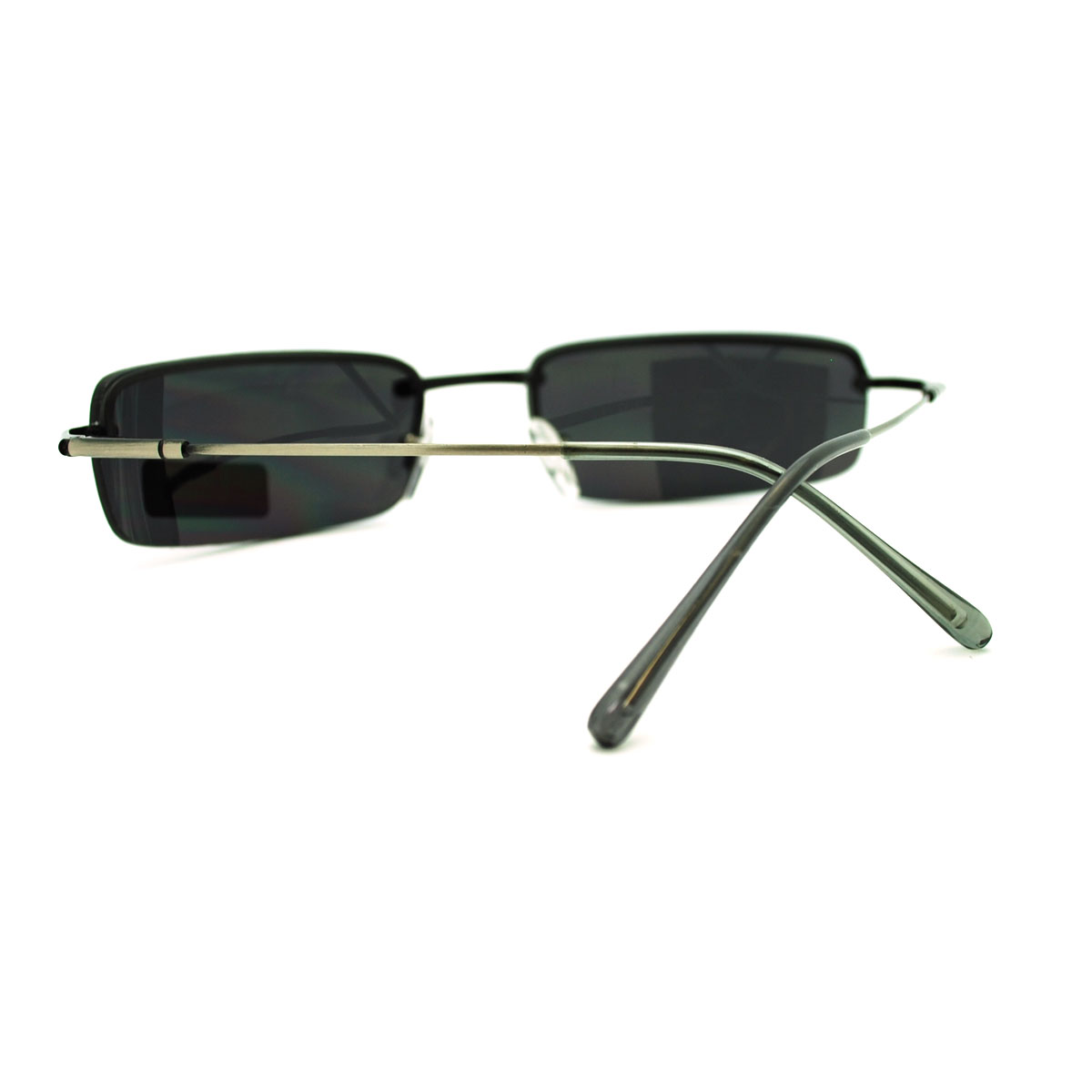 Mens Rimless Light Weight Narrow Lens Rectangular ...