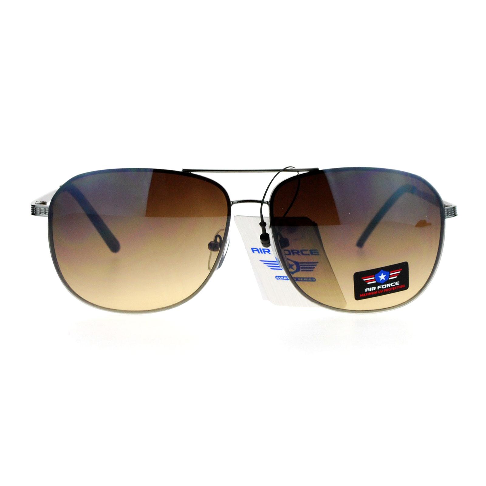 SA106 Air Force Mens Mirrored Rimless Aviator Sunglasses ...