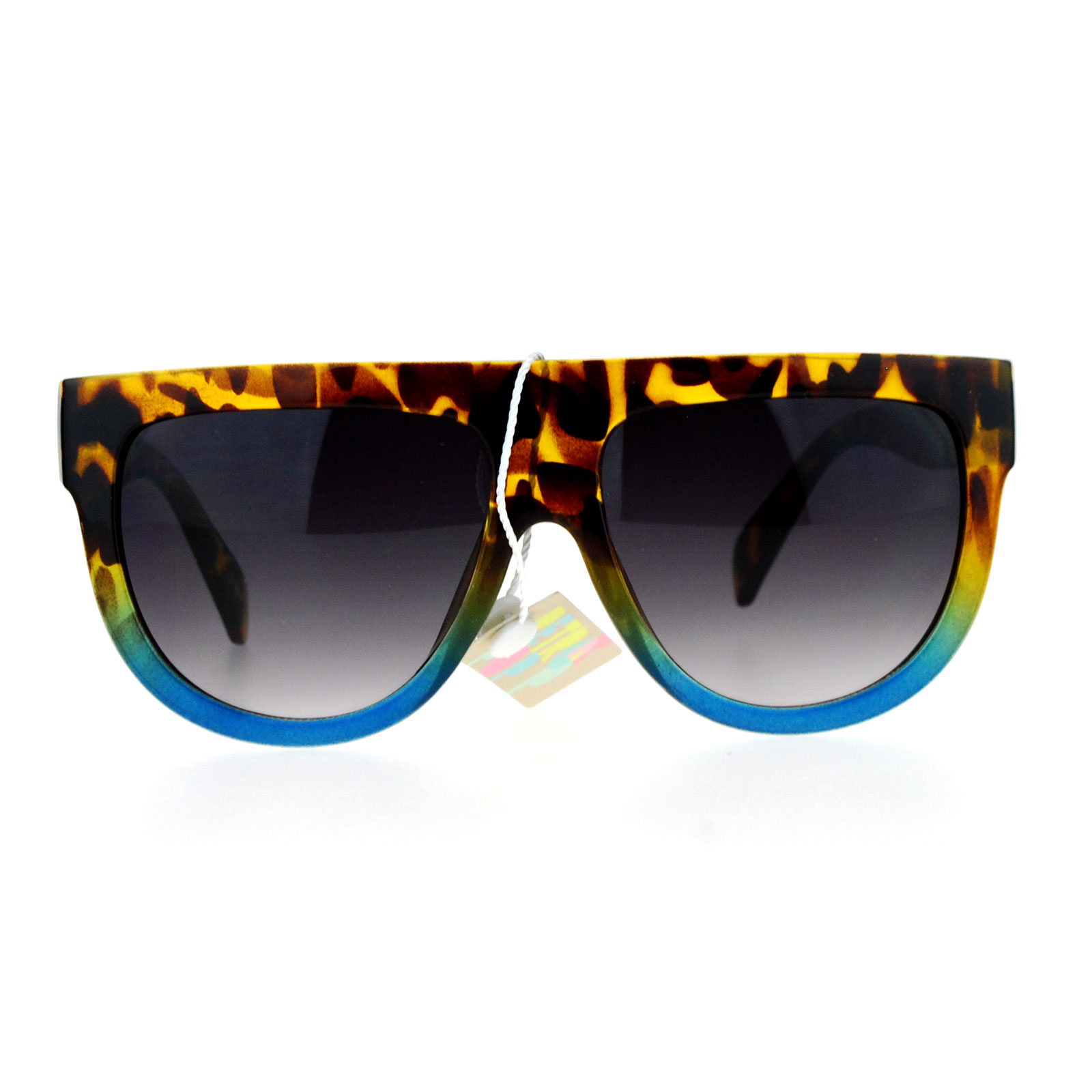 Large womens fashion oversized round circle sunglasses ebay - Sa106 Flat Top Mob Plastic Aviator Womens Sunglasses Ebay