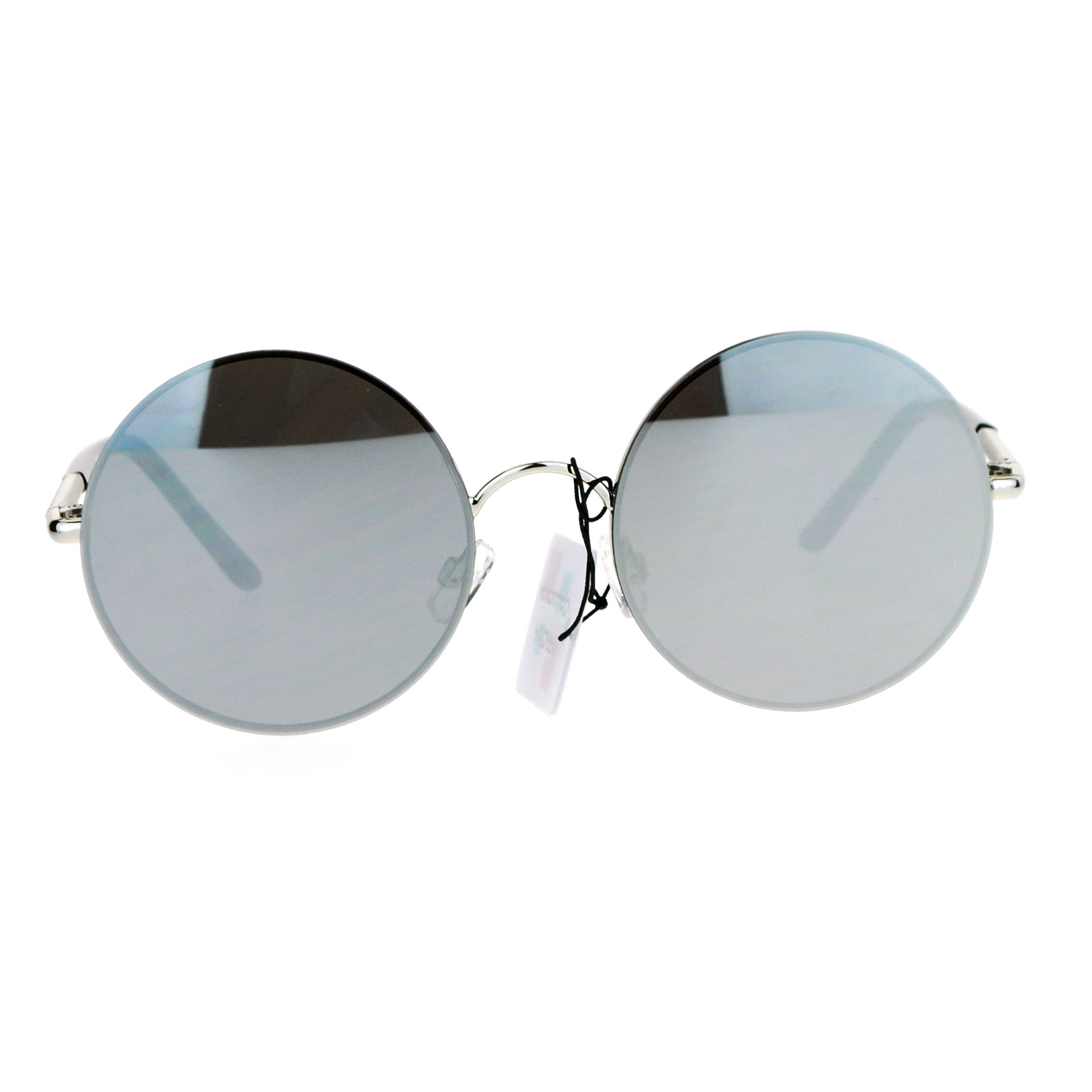 Rimless Glasses Round Lens : SA106 Flat Colored Mirror Lens Rimless Round Circle Lens ...