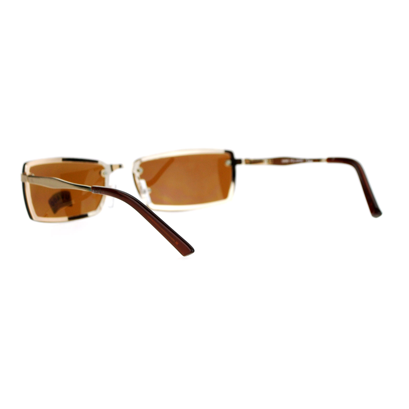 f5bc3cd54b1 SA106-Mens-Rimless-Narrow-Rectangular-Agent-Sunglasses thumbnail 10