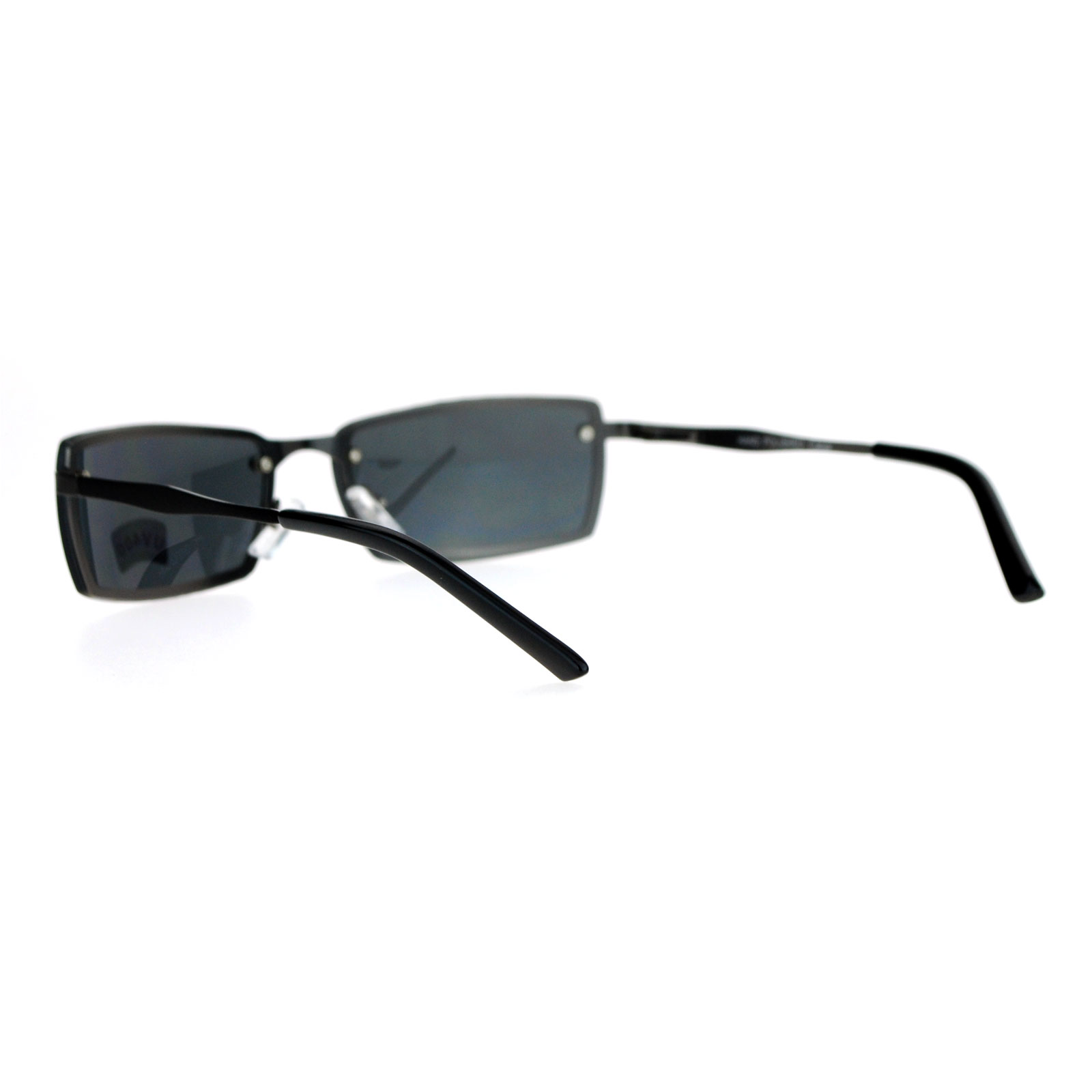fb9d4966e5e SA106-Mens-Rimless-Narrow-Rectangular-Agent-Sunglasses thumbnail 4