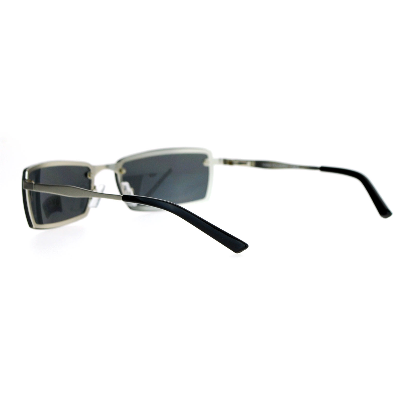d0febb56a47 SA106-Mens-Rimless-Narrow-Rectangular-Agent-Sunglasses thumbnail 7