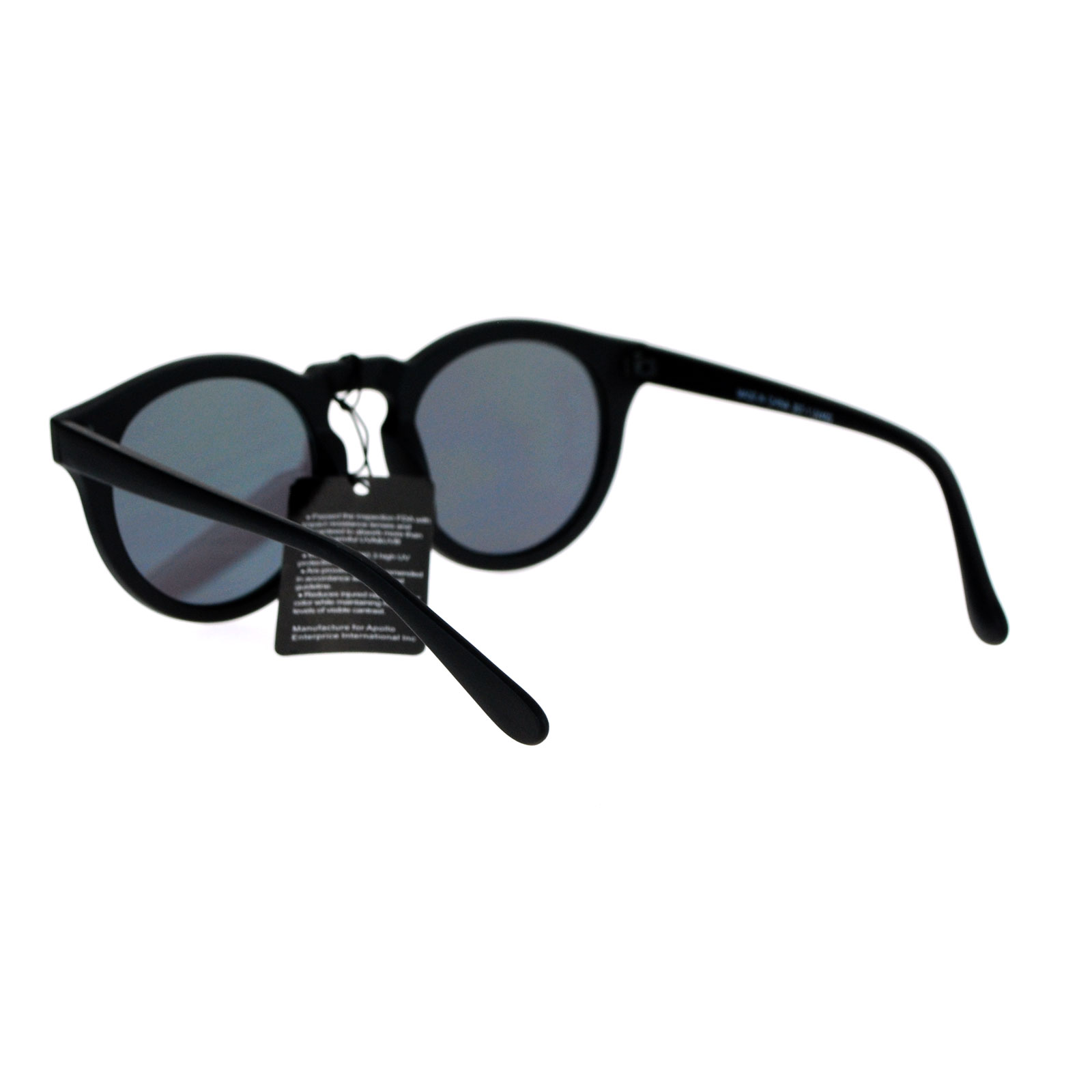 d4aeceac5c SA106 Flat Color Mirror Lens Horn Rim Keyhole Retro Round Hipster ...