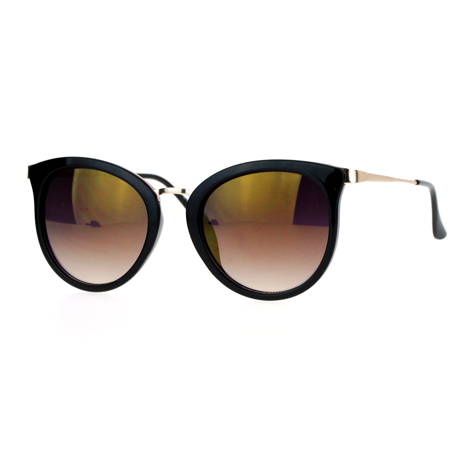 Cat Eye Mirrored Sunglasses  sa106 womens bat shape cat eye color mirror lens sunglasses ebay