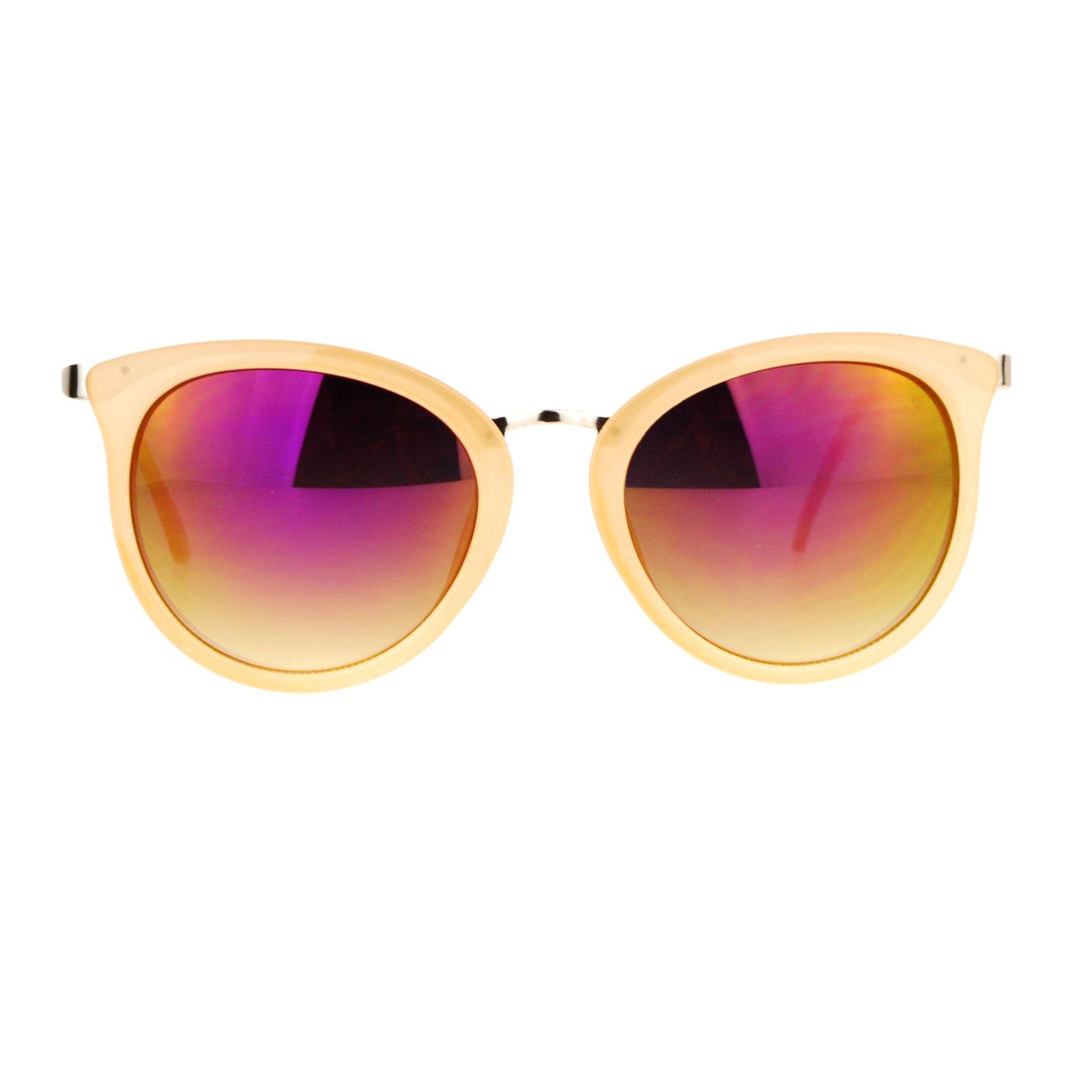 Colored Lens Sunglasses  sa106 womens bat shape cat eye color mirror lens sunglasses ebay