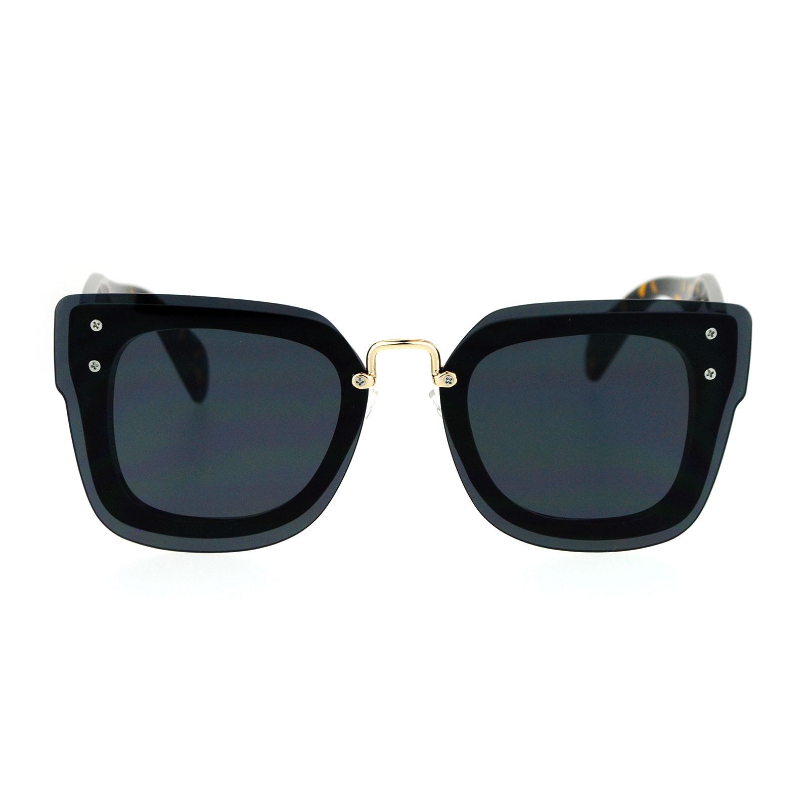 Rimless Glasses Vs Rimmed : SA106 Flat Panel Lens Rimless Horn Rim Rectangular ...
