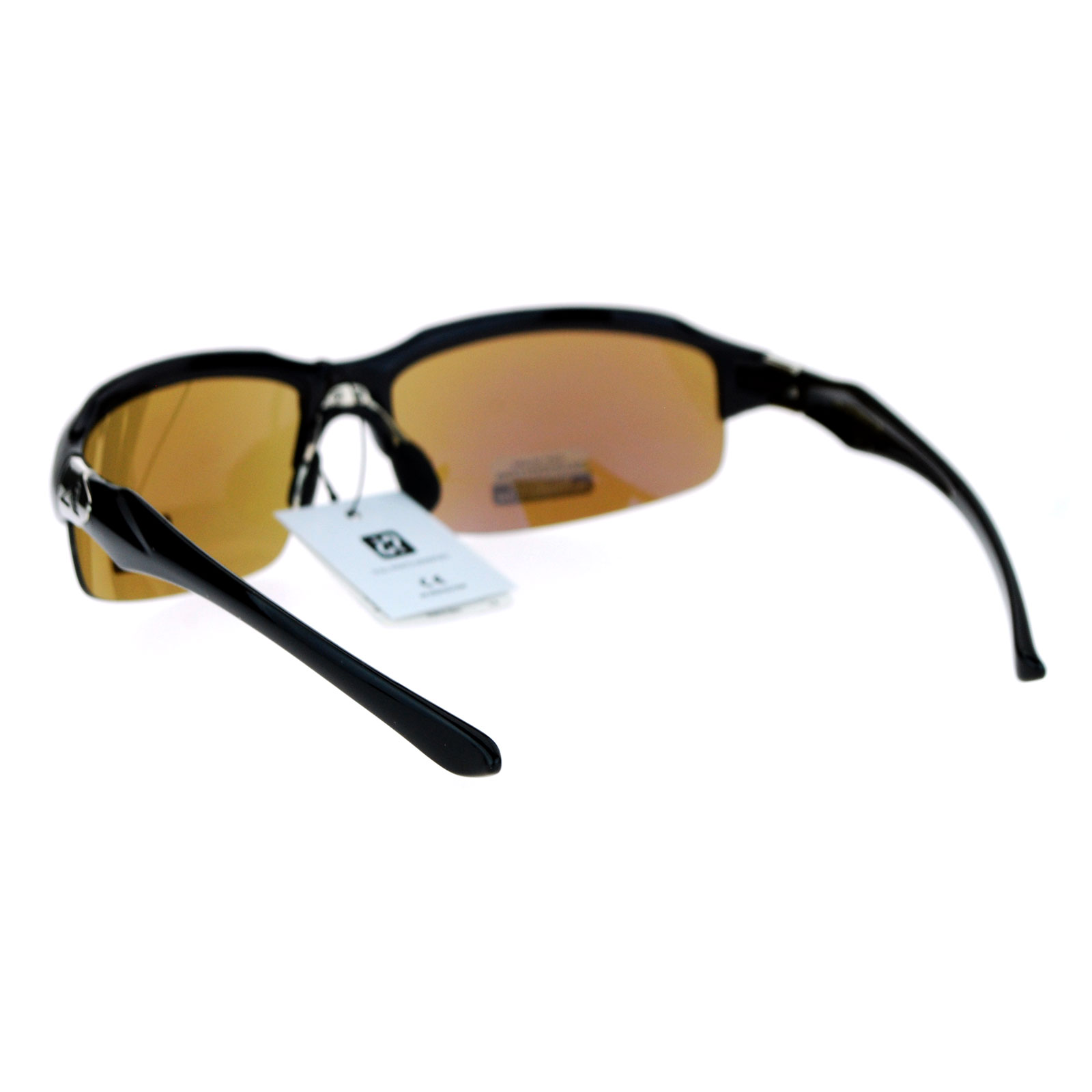 mirrored sport sunglasses  Arctic Blue Bluetech Mirrored Lens Baseball Half Rim Sport ...