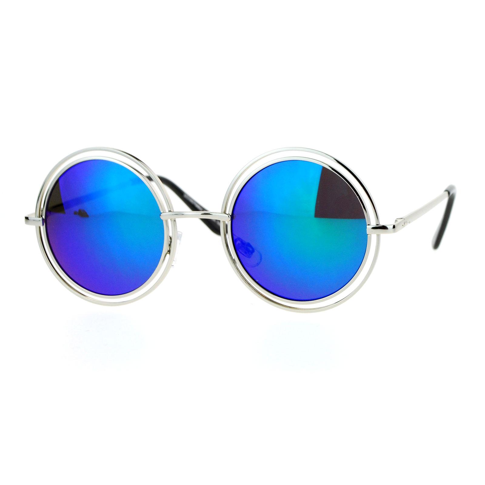 Circle Lens Sunglasses  sa106 uni double frame hippie round circle lens pimp sunglasses