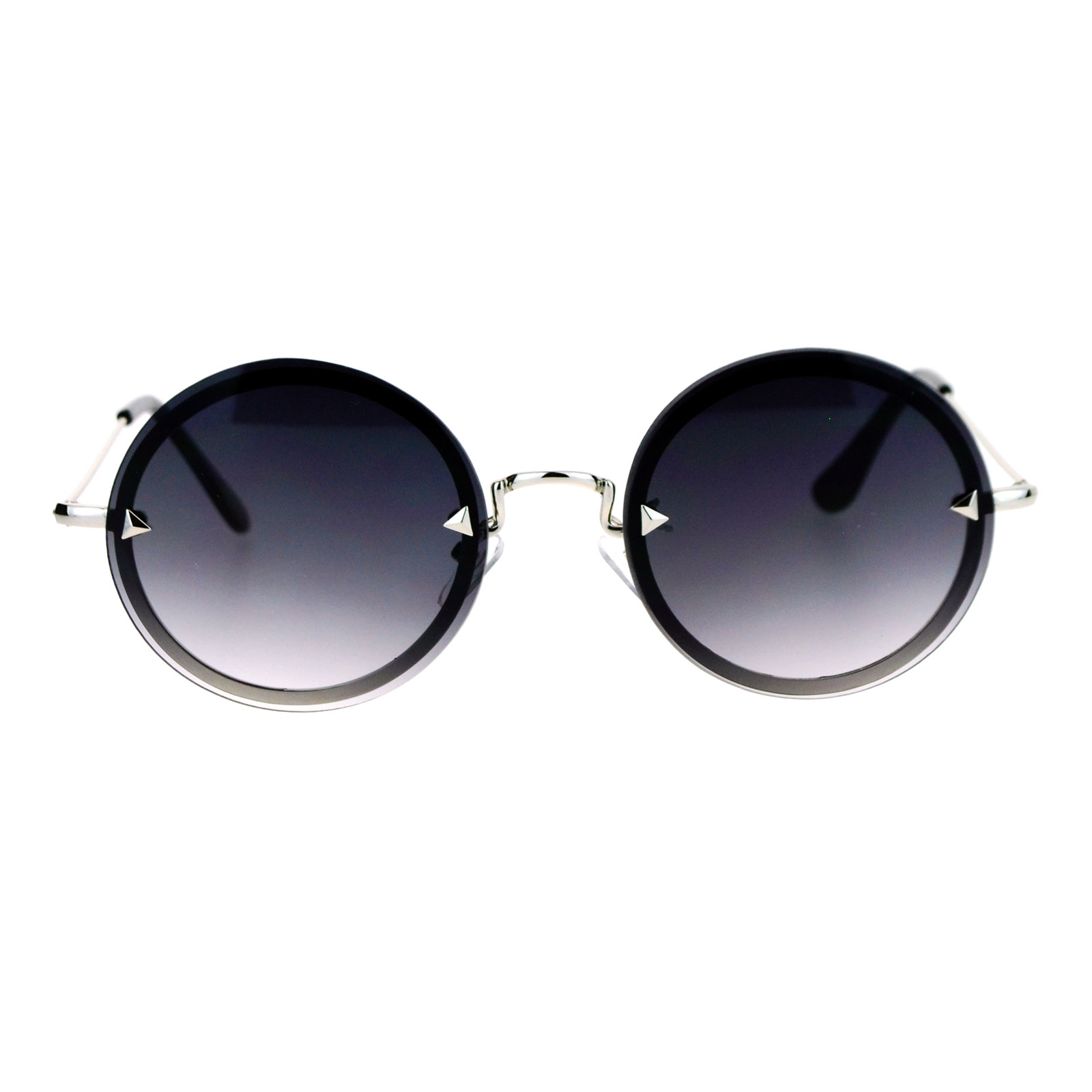 Rimless Glasses Round Lens : SA106 Flat Lens Rimless Luxury Round Oval Retro Hippie ...