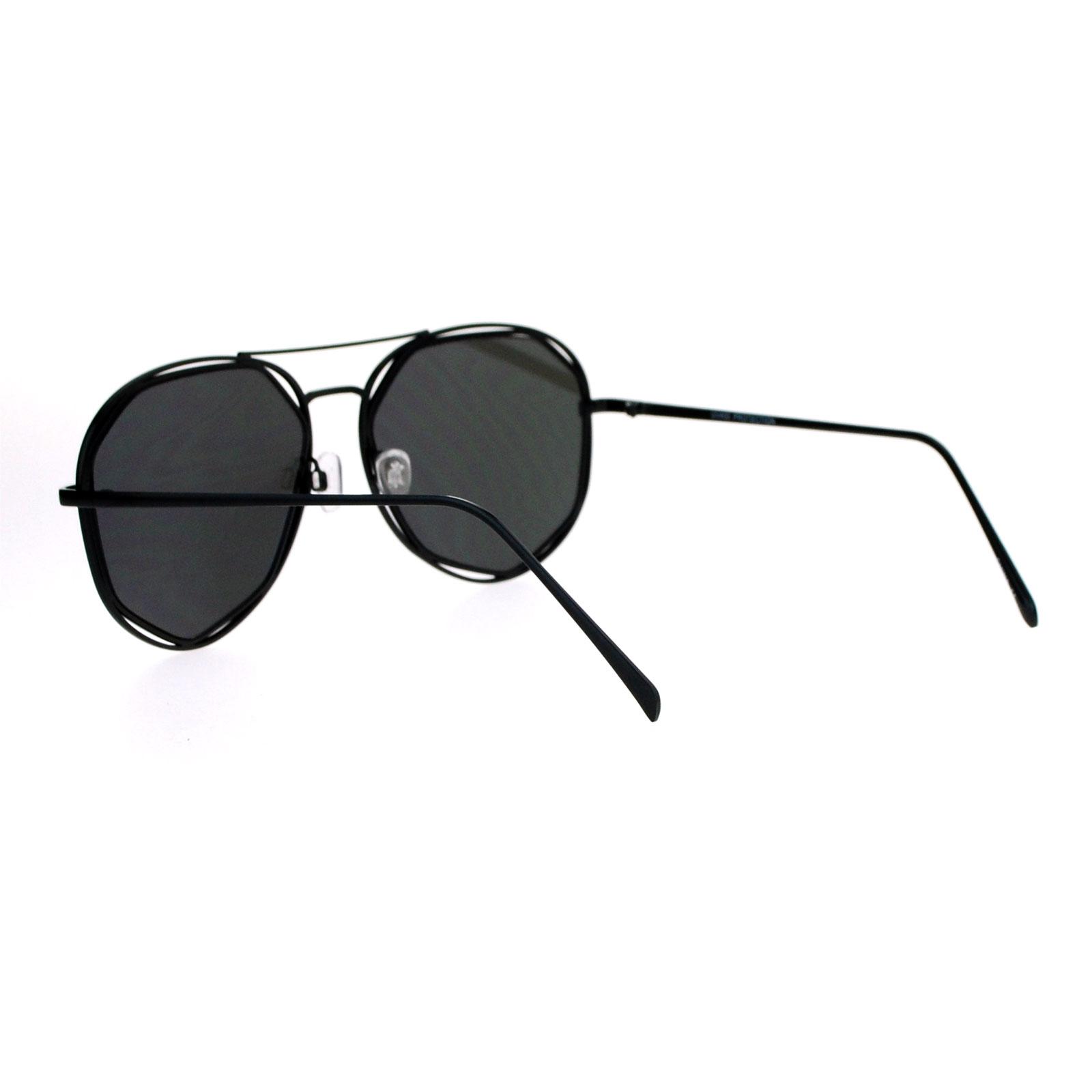 a1a8d857ce09 SA106 Octagon Double Frame Aviator Mirror Lens Womens Sunglasses | eBay