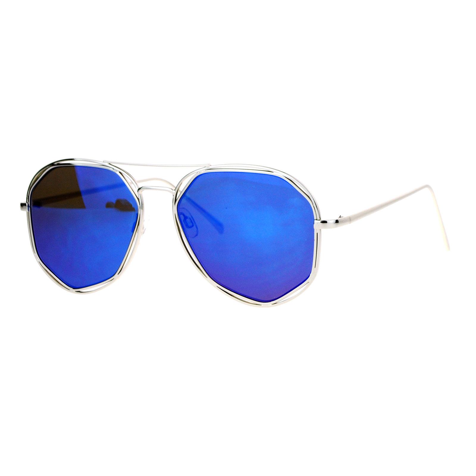 SA106 Octagon Double Frame Aviator Mirror Lens Womens Sunglasses   eBay