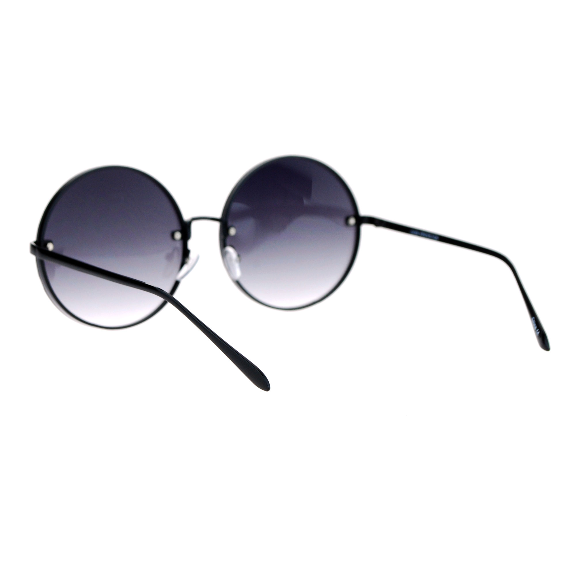 Rimless Glasses Round Lens : SA106 Rimless Large Hippie Round Circle Lens Womens ...