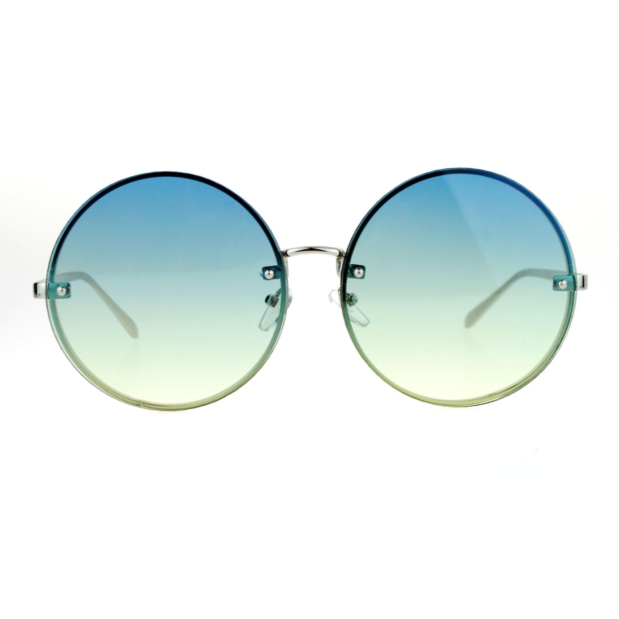 SA106 Sin Montura Hippie Redondo Círculo Oceanic Color Lente Gafas ...