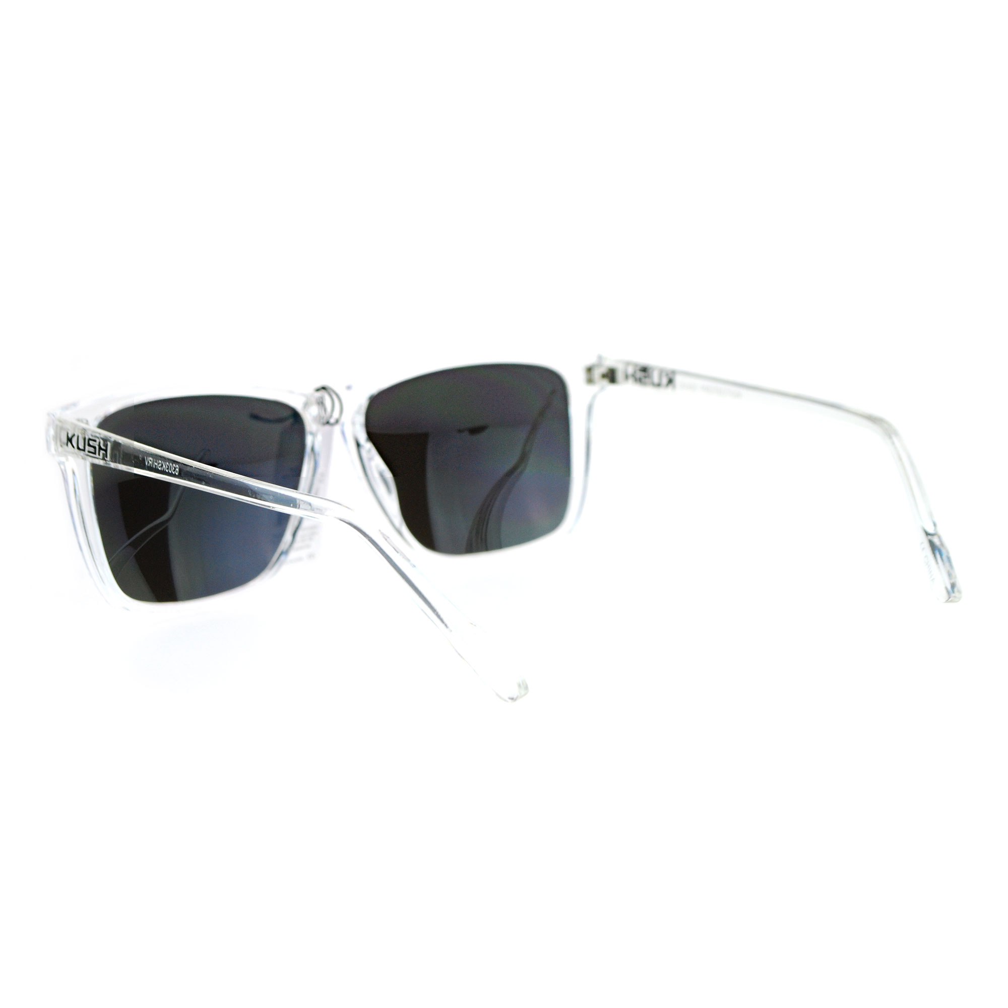 SA106 Kush Color Mirror Large Clear Plastic Frame Sport Sunglasses ...