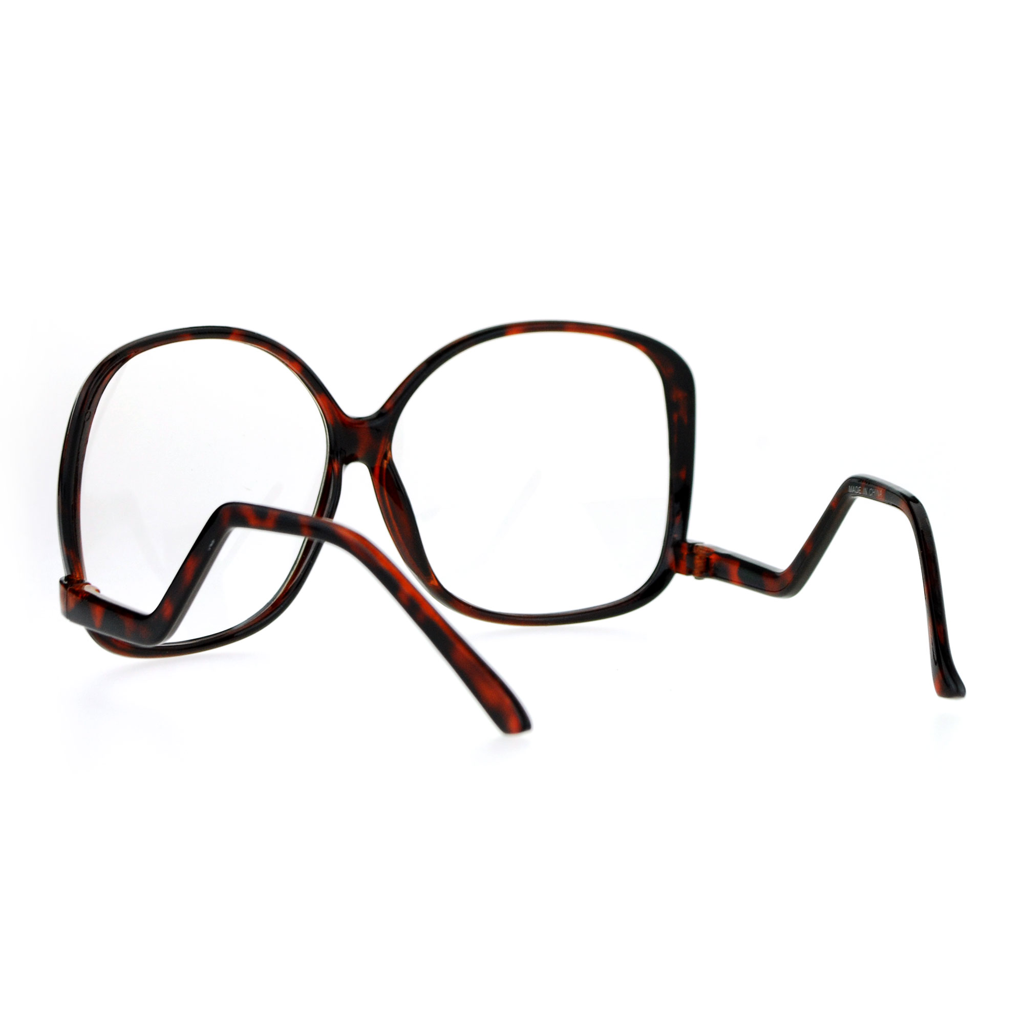 SA106 Womens Drop Temple Crooked Arm Swane Diva Clear Lens ...