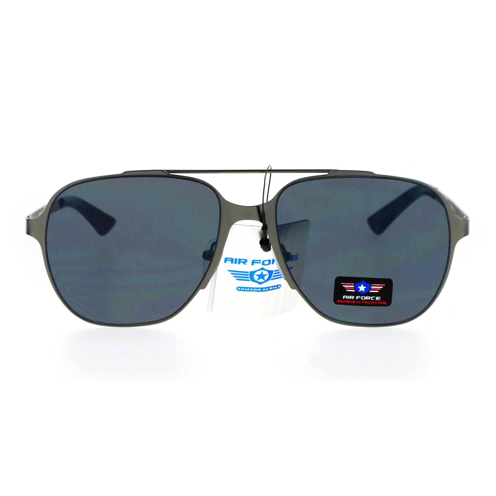 Air Force Aviator Sunglasses  air force flat lens metal frame futuristic aviator sunglasses ebay
